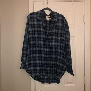 Plaid boyfriend style shirt